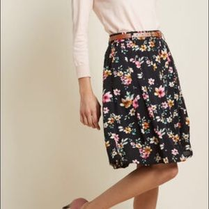 Modcloth Bookstore's Best A-line Skirt Floral